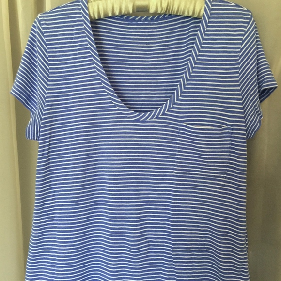 5a298ad2 Caslon Tops | U Neck Striped Tee | Poshmark
